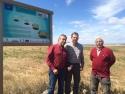 La empresa Transati y la UPM, socios del proyecto LIFE Cultivos Tradicionales visitan las parcelas de San Mateo de Gállego