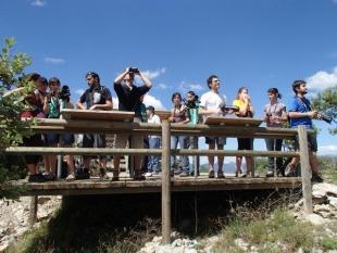 Un grupo del COAMB visita el Espacio Natura Montaña de Alinyà
