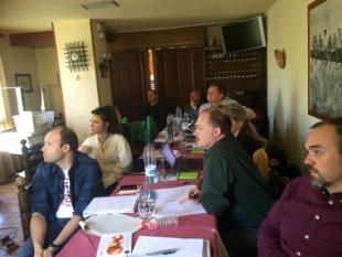 Novena reunión oficial del proyecto en Zuera