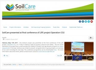 El proyecto SOILCARE habla sobre su participación en la conferencia final
